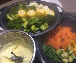 Steamed Vegetables and Mash Potatoes- Instructions for kids