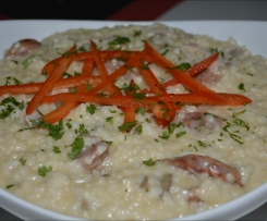 Chicken Risotto with Chorizo and Mushroom
