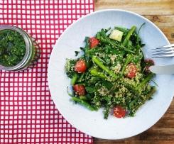 Quinoa & Spring Vegetable Salad with Kale Pesto