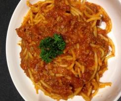 Simple Spaghetti Bolognese