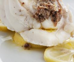 Thermomix Lemon Cod with anchovies
