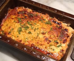 Chicken, cheese and vegetable meatloaf