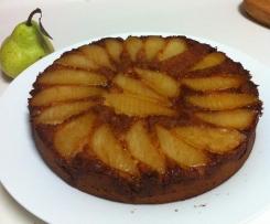 Upside Down Pear Cake