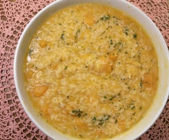 pumpkin or smash risotto