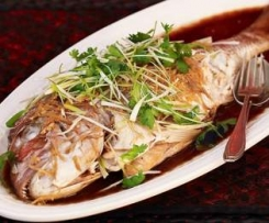 Whole Baked Asian Fish