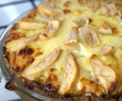 Chicken, Cheddar & Pear Pie - Paleo, Gluten & Grain Free
