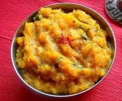 Kaddu Ki Sabzi (Indian pumpkin curry)
