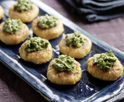 Mini Crab Cakes With Coriander Paste