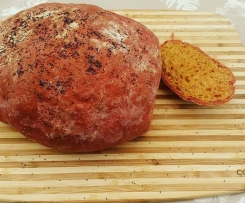 Pink beetroot bread